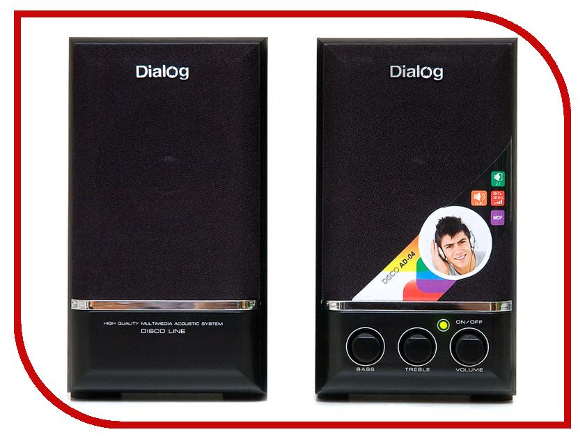 Колонки Dialog AD-04 Black<br>