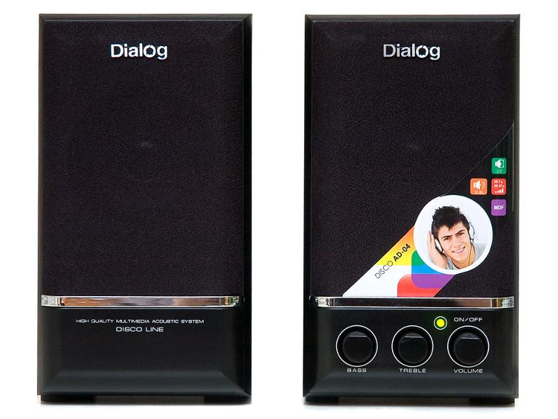 Колонки Dialog AD-04 Black от Pleer