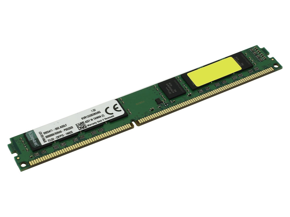 цена на Модуль памяти Kingston DDR3 DIMM 1333MHz PC3-10600 - 8Gb KVR1333D3N9/8G