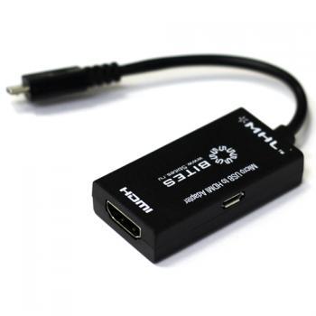Фото - Аксессуар 5bites Micro USB BM to HDMI/F + microUSB/BF UA-HHFM-MHL аксессуар lenovo plus power usb c to hdmi 4x90k86567