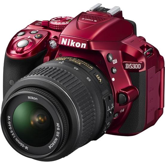 Фотоаппарат Nikon D5300 Kit AF-S DX 18-55 mm f/3.5-5.6G VR Red