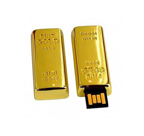 USB Flash Drive 16Gb - Союзмультфлэш / NIO Слиток золота большой FM16A2.22.GLD