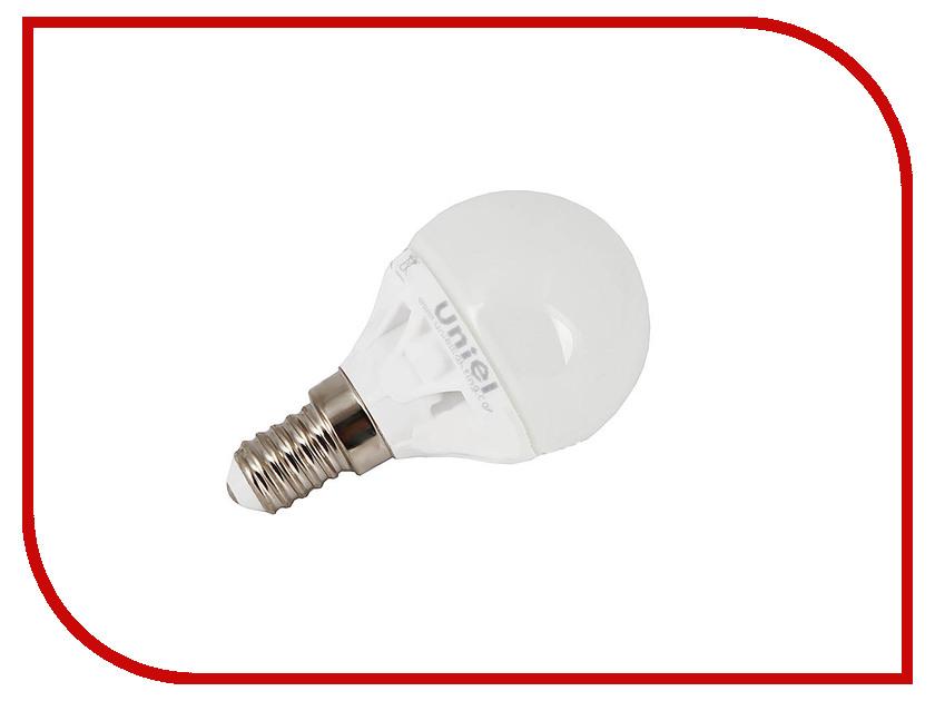 Лампочка Uniel Flower LED-G45-4W/NW/E14/FR CRF01WH 400 Lm (белый, 4500К)