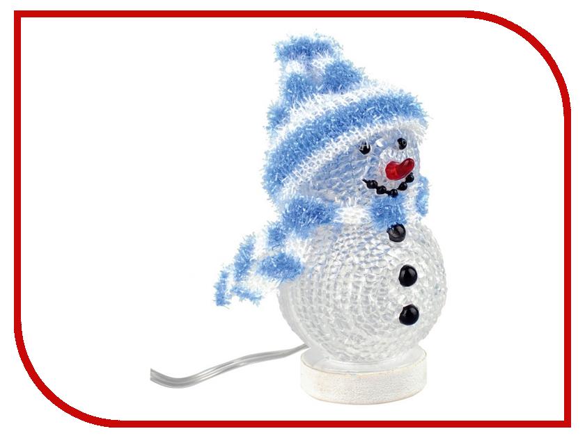 Новогодний сувенир Снеговик с полосатой шапочкой и шарфом Союзмультфлэш