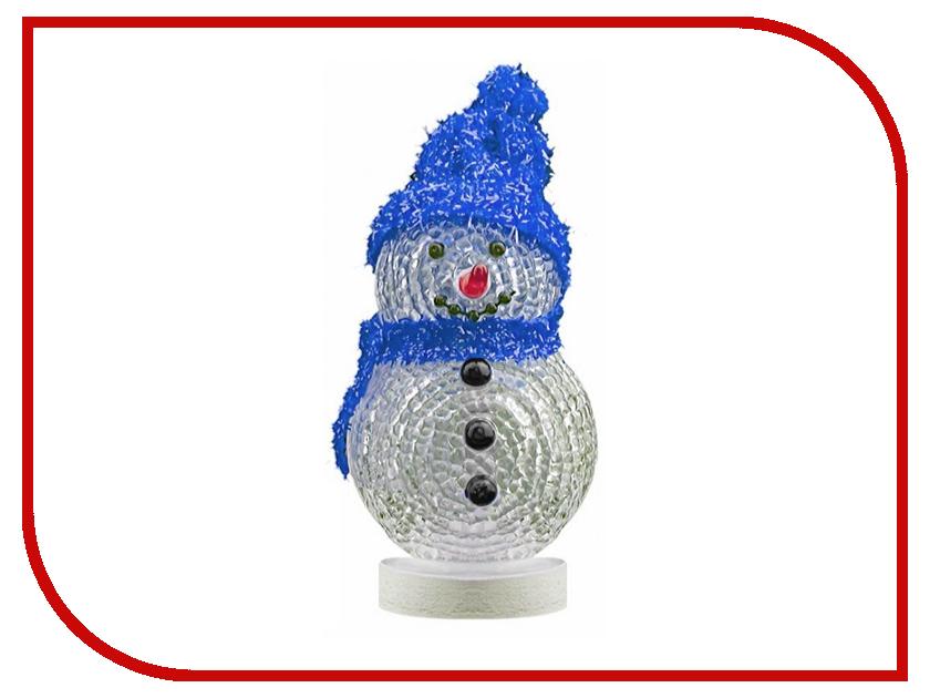 Новогодний сувенир Снеговик с синей шапочкой и шарфом Союзмультфлэш