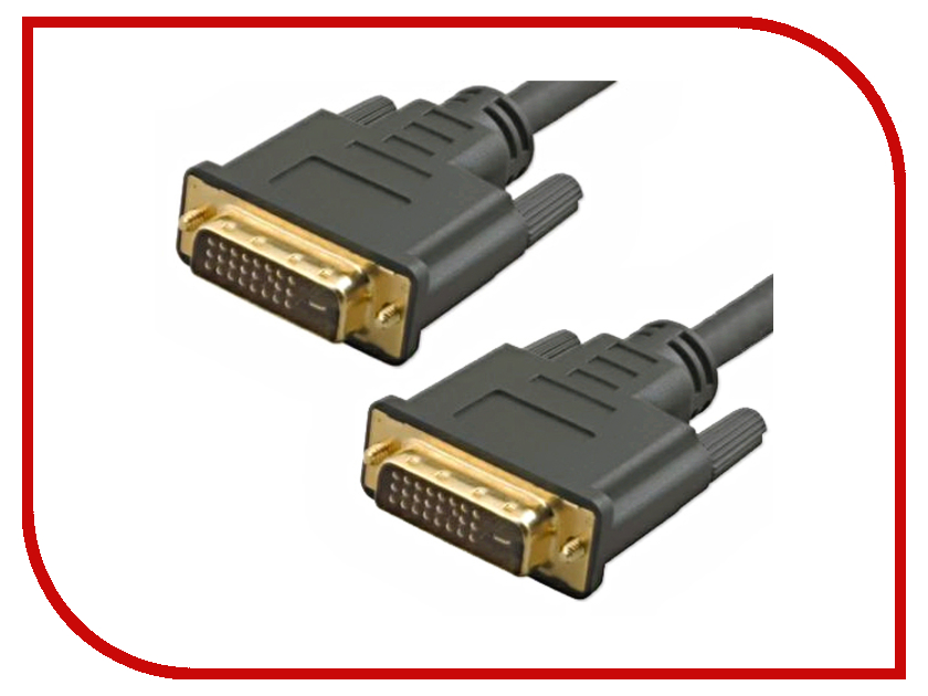 Аксессуар VCOM DVI 25M / DVI Dual Link 25M 1.8m 2 фильтра VDV6300-1.8M
