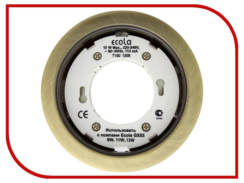 Светильник Ecola GX53 H4 220V Черненая бронза FN53H4ECB ecola gx53 h4 black chrome