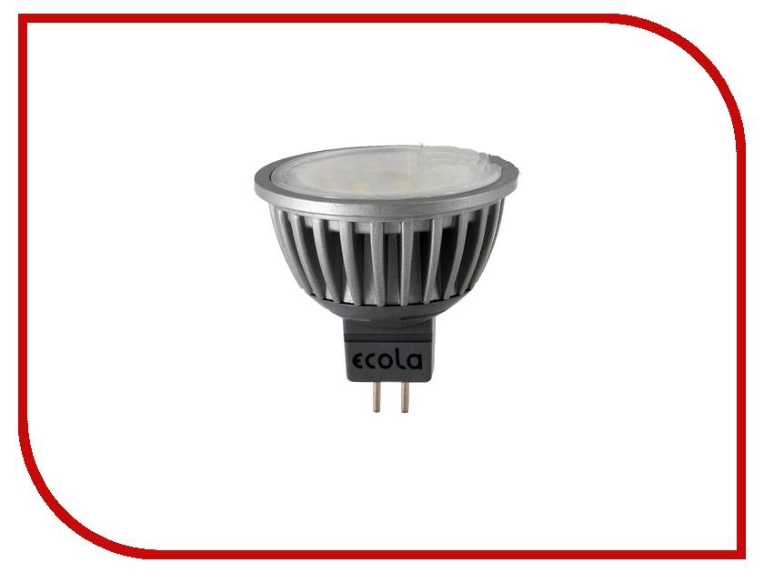 Лампочка Ecola MR16 LED GU5.3 7W 220V 2800K прозрачное стекло M2TW70ELC лампочка ecola globe led e14 7w g45 220v 4000k k4lv70elc