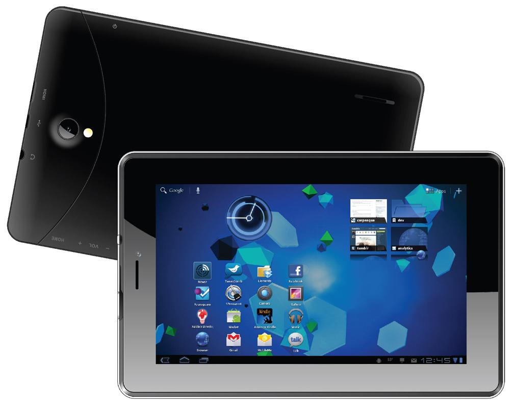 Планшет SUPRA M724G Black MediaTek MT8389 1.2 GHz/1024Mb/8Gb/Wi-Fi/3G/Bluetooth/GPS/Cam/7.0/1024x600/Android<br>