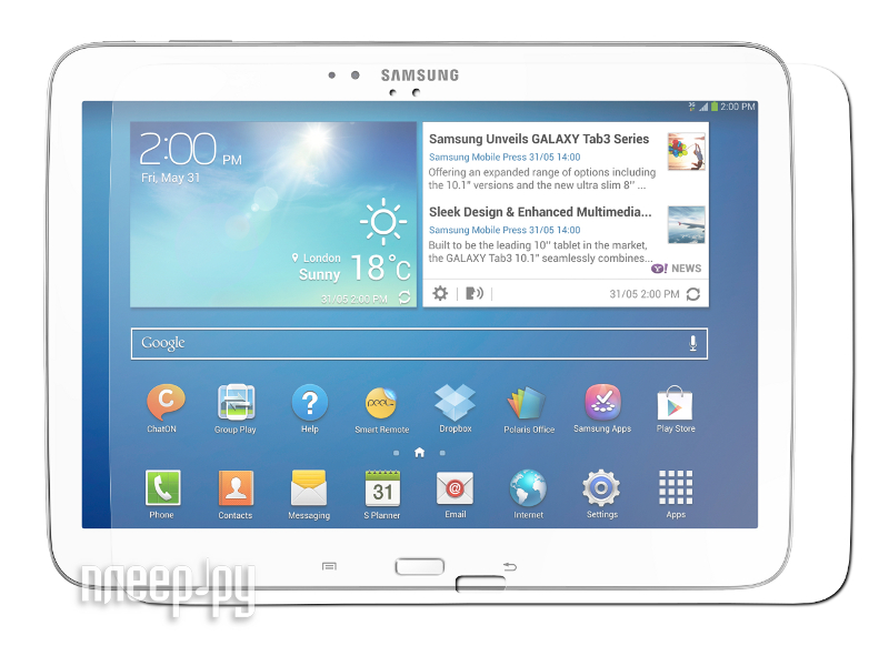 Аксессуар Защитная пленка Samsung Galaxy Tab 3 10.1 P5200/P5210 Partner прозрачная
