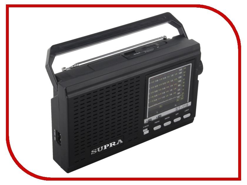 Радиоприемник SUPRA ST-119 Black