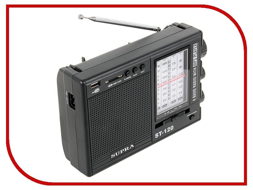 цена на Радиоприемник SUPRA ST-120 Black