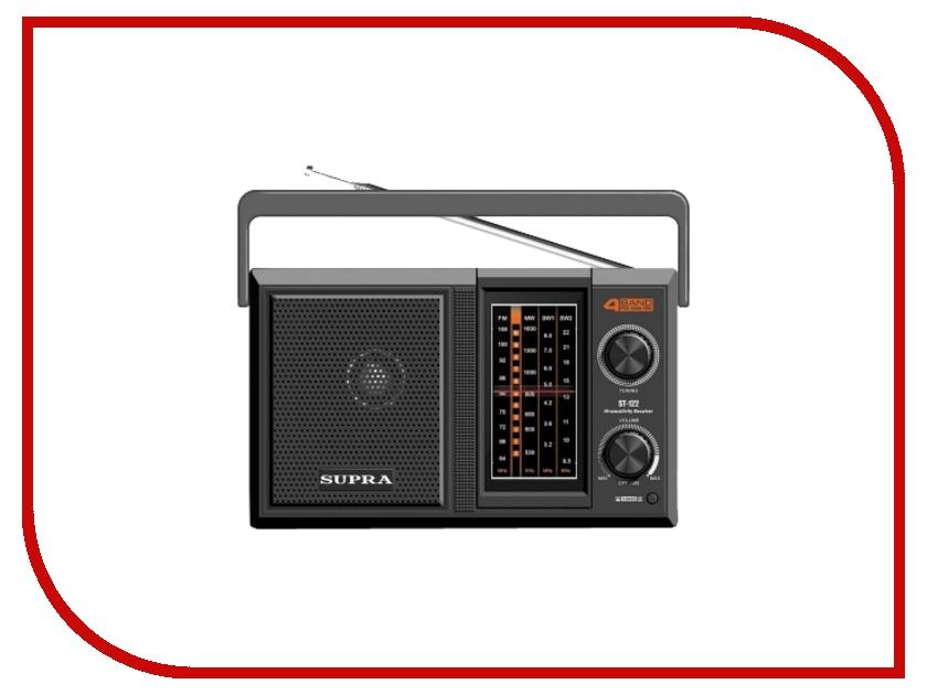 Радиоприемник SUPRA ST-122 Black<br>