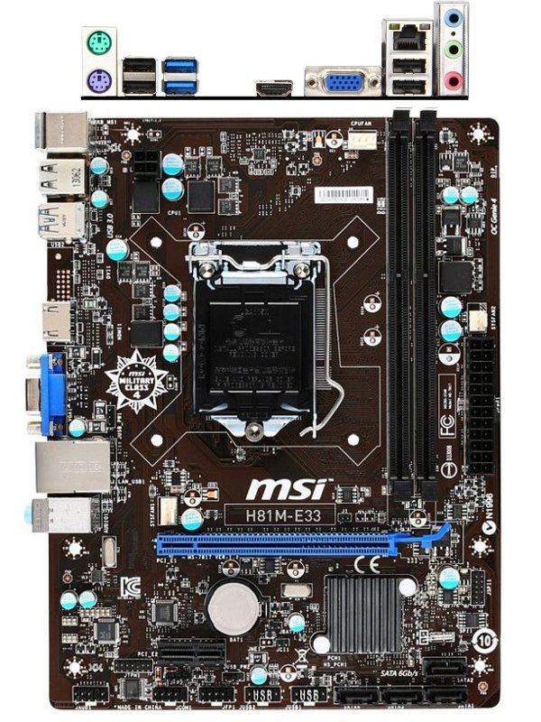 Материнская плата MSI H81M-E33