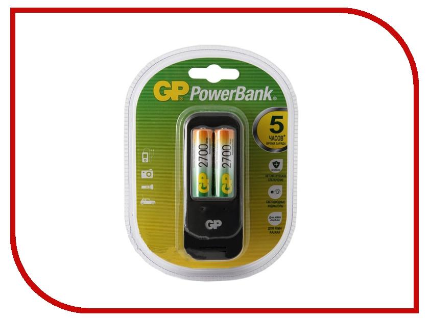 Зарядное устройство GP PowerBank 560GS + 2 ак. AA 2700 mAh (PB560GS270-2CR2)