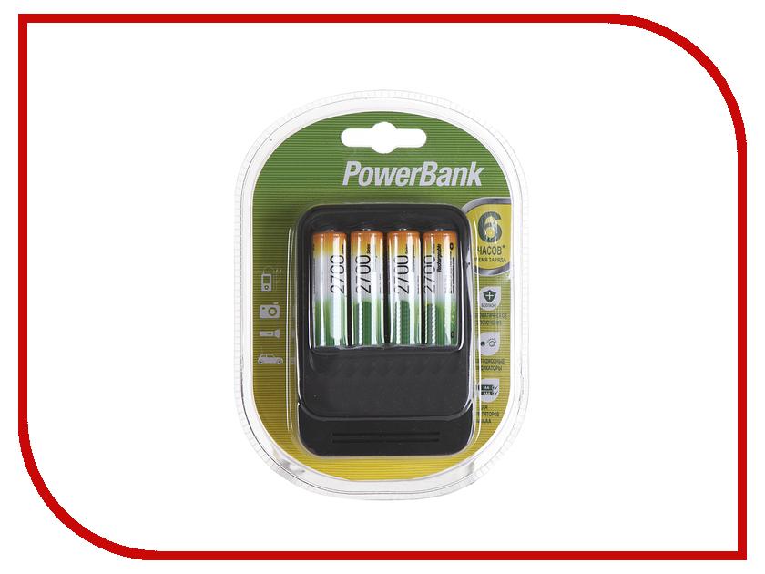 Зарядное устройство GP PowerBank 570GS + 4 ак. AA 2700 mAh (PB570GS270-2CR4)