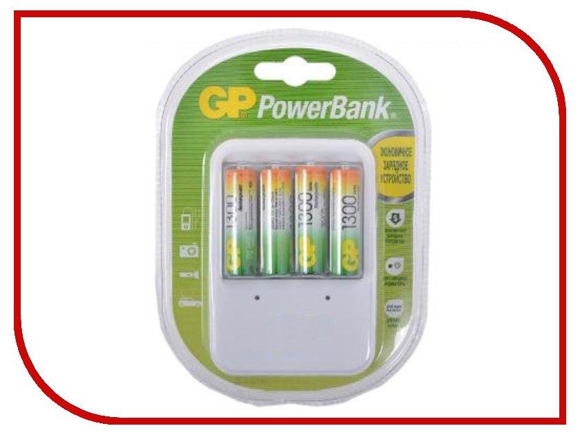 Зарядное устройство GP PowerBank 420GS + 4 ак. AA 1300 mAh (PB420GS130-2CR4)