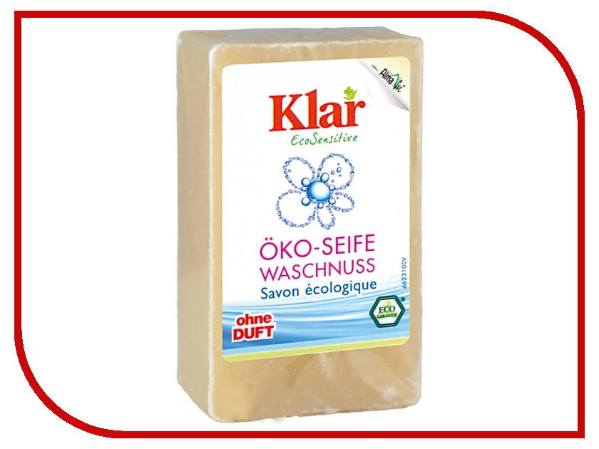 Средство для ухода за телом KLAR мыло на мыльном орехе гипоаллергенное ЭКО 0.1kg 6623100