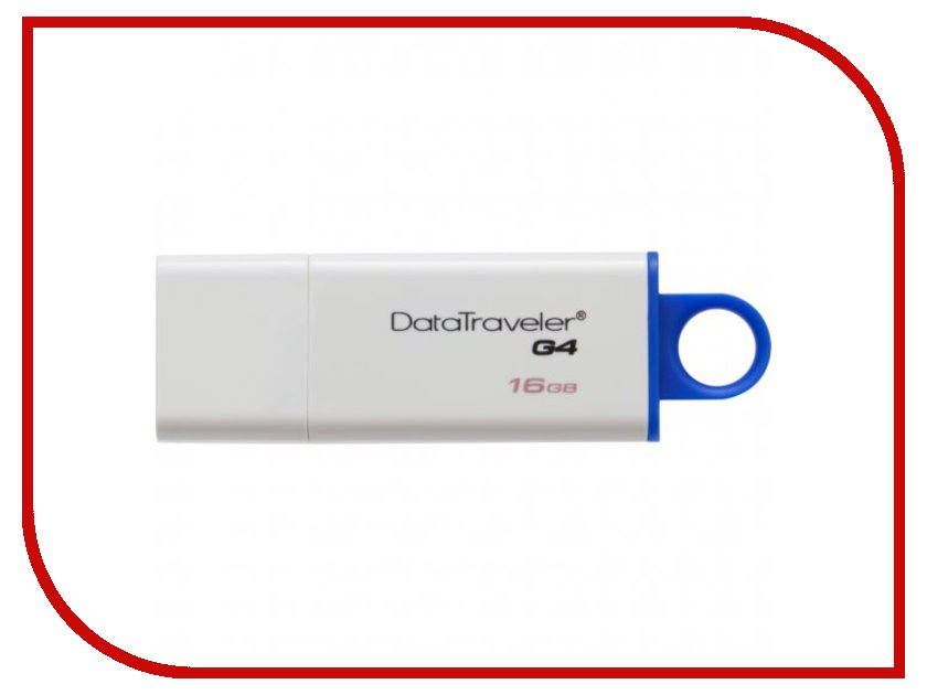 USB Flash Drive 16GB - Kingston DataTraveler G4 USB 3.0 DTIG4/16GB флешка 16гб kingston datatraveler g4