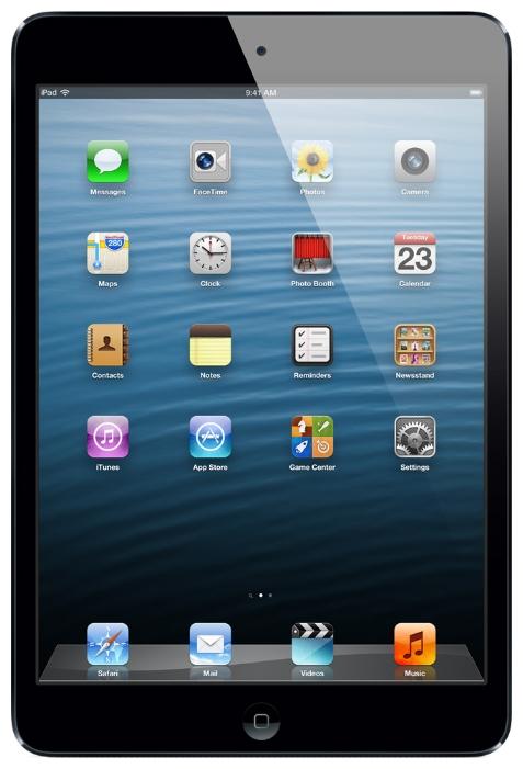 APPLE ������� iPad mini 16Gb Wi-Fi Space Grey MF432RS/A / MF432RU/A A5 1.0 GHz/512Mb/16Gb/Wi-Fi/Blu�