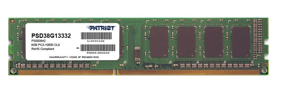 Модуль памяти Patriot Memory DDR3 DIMM 1333MHz PC3-10600 - 8Gb PSD38G13332 цена