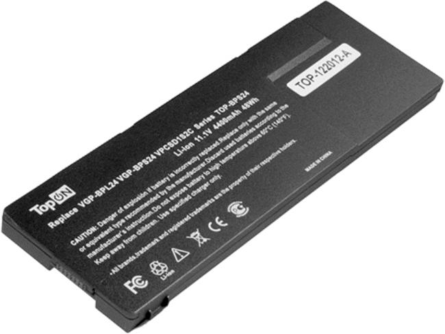 Аккумулятор TopON TOP-BPS24-NOCD 11.1V 4400mAh for Sony VAIO VPC-S/VPC-SA/VPC-SB/VPC-SD/VPC-SE/VPC-SC/SVS13/SVS15 Series