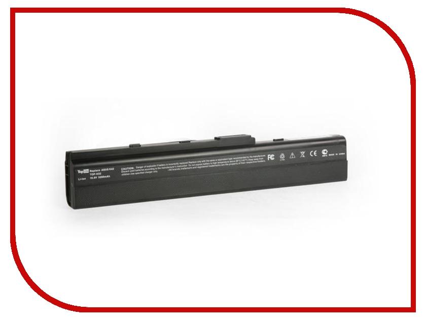 Аккумулятор TopON TOP-K52 10.8V 4400mAh for ASUS K52F/A40/A50/A52A/A52JB/K42F/K42JB/K52JB/K52JK/K62/N82/P42/P52/Pro5/Pro8/X8F/X42J