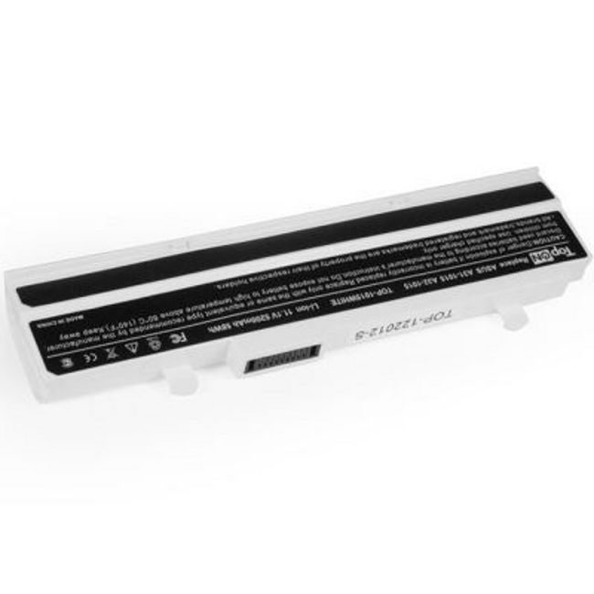 Аккумулятор TopON TOP-1015 WHITE 11.1V 5200mAh White for ASUS eee PC 1015PE/1015PD/1015PED/1015PN/1015PW/1015T/1015B/1016/1215N/1215P/1215T/VX6 Series