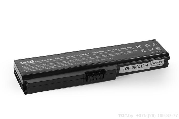 Аккумулятор TopON TOP-PA3817 10.8V 4400mAh / 4800mAh for Toshiba Satellite A660/A665/C600/C645/C650/C655/C660/L515/L537/L630/L635/L640/L650/L670/L700/L770/P750/M500/U400/U500 Series