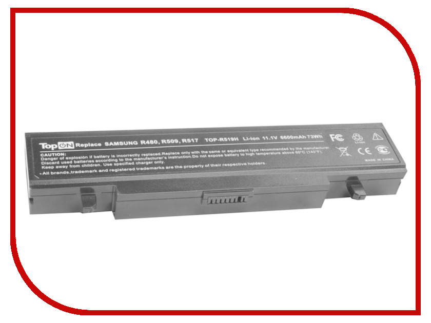 Аккумулятор TopON TOP-R519H 11.1V 6600mAh for Samsung