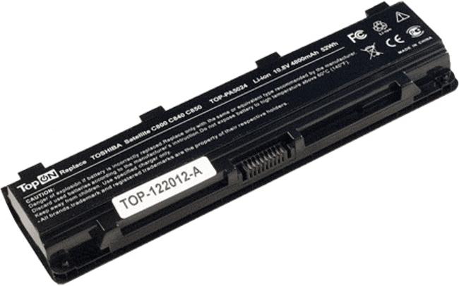 Аккумулятор TopON TOP-PA5024 10.8V 4800mAh for Toshiba Satellite C800/C840/C850/C870/L800/L805/L830/L835/L840/L845/L855/M800/M845/P800/P850/P870/S840/S875 Series