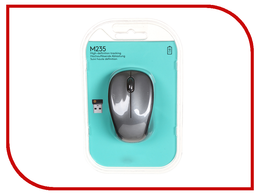 все цены на Мышь Logitech Wireless Mouse M235 Grey-Black 910-003146 / 910-002201 онлайн