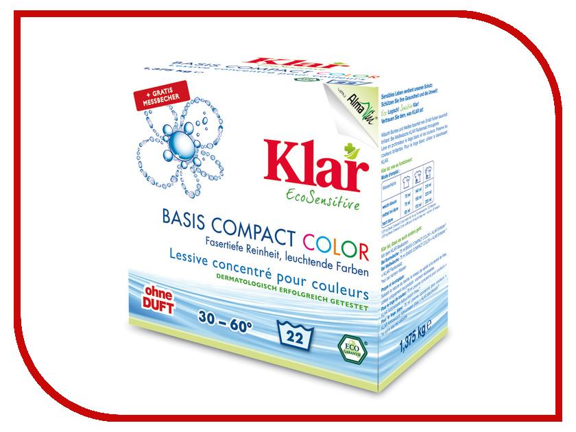 Средство KLAR порошок концентрированный для цветного белья гипоаллергенный ЭКО 1.375kg