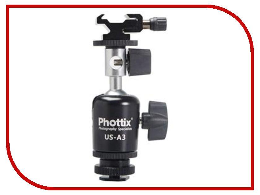 Стойка студийная Phottix A3 - поворотная стойка для вспышки и зонта-отражателя 87208