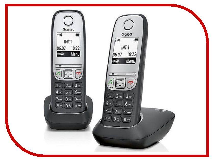 Радиотелефон Gigaset A415 Duo радиотелефон gigaset sl450 sys