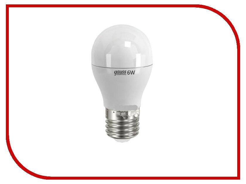 Лампочка Gauss Elementary E27 6W 220V 2700K 53216 стоимость