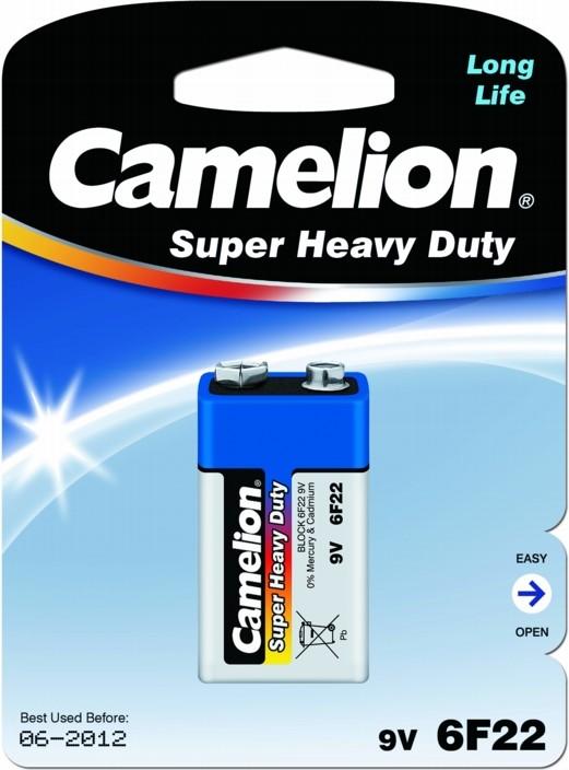 Батарейка КРОНА Camelion 6F22 Blue 6F22-BP1B / 6F22-1BL