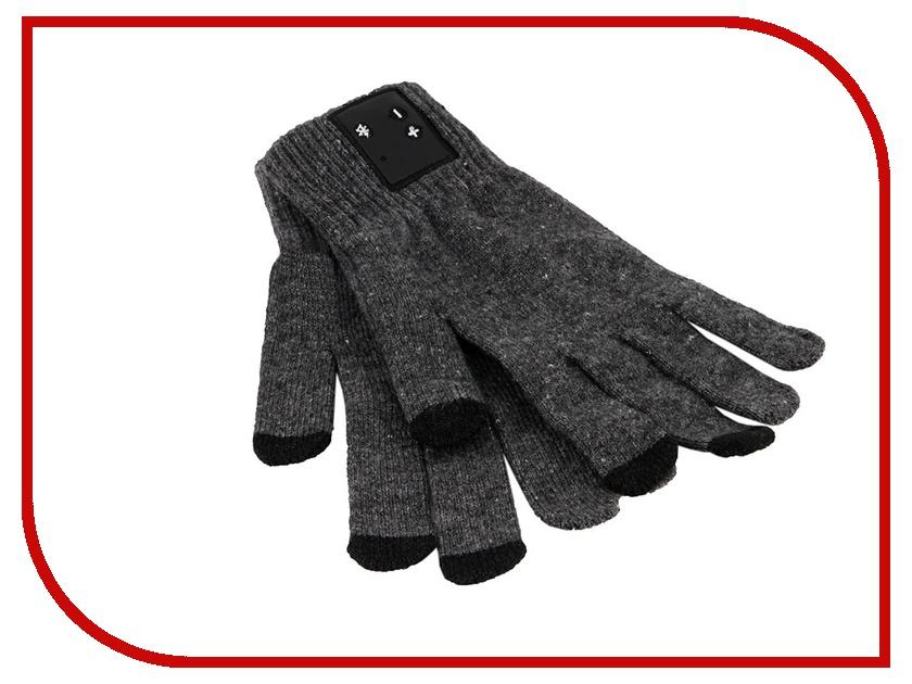 Теплые перчатки для сенсорных дисплеев GlobusGPS GL-BT3 BT Grey<br>