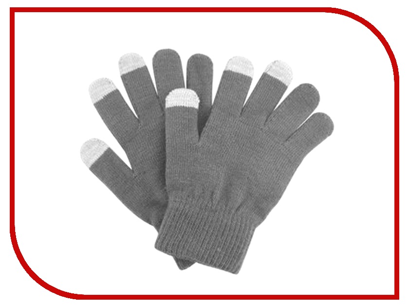 Теплые перчатки для сенсорных дисплеев GlobusGPS GL-SM1 Grey<br>