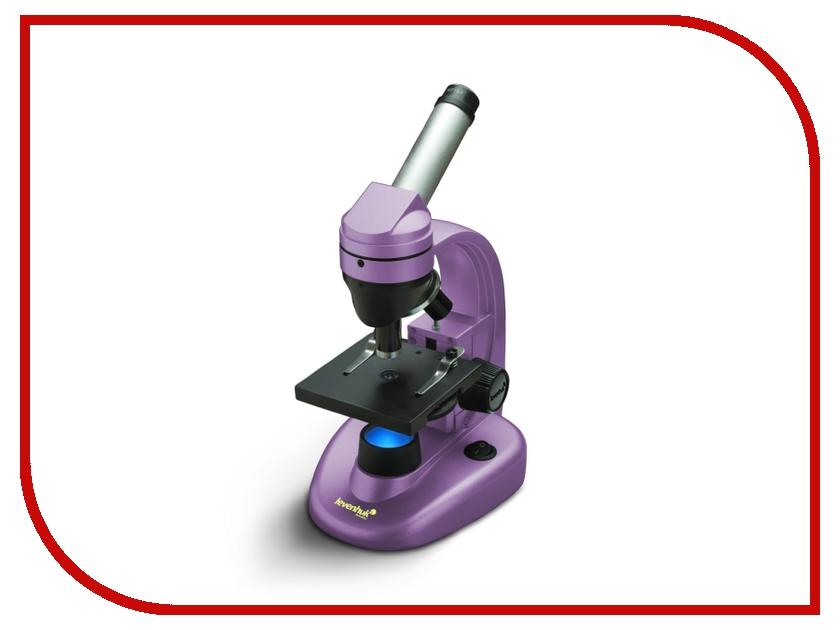 Монокулярный микроскоп Levenhuk Rainbow 50L Amethyst микроскоп levenhuk левенгук rainbow 50l azure лазурь