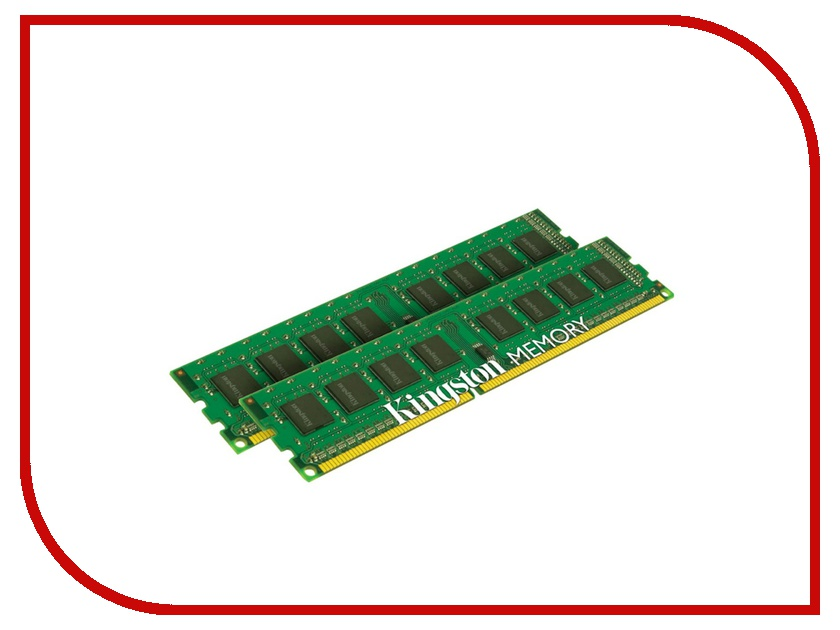 Модуль памяти Kingston PC3-10600 DIMM DDR3 1333MHz CL9 - 8Gb KIT (2x4Gb) KVR13N9S8HK2/8