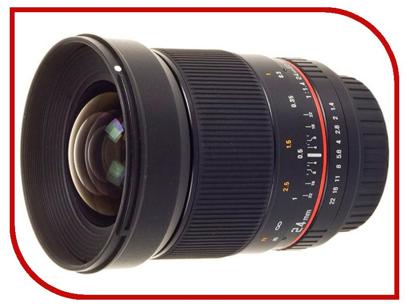 Объектив Samyang Sony E NEX 24 mm f/1.4 ED AS IF UMC объектив samyang sony e nex 50 mm f 1 2 as umc cs