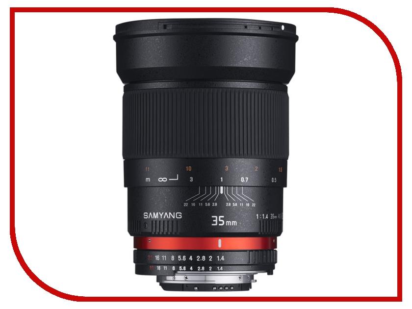 Объектив Samyang Sony E NEX 35 mm f/1.4 AS UMC