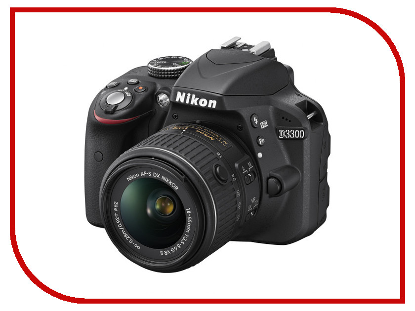Фотоаппарат Nikon D3300 Kit AF-S DX 18-55 mm f/3.5-5.6G VR II Black<br>