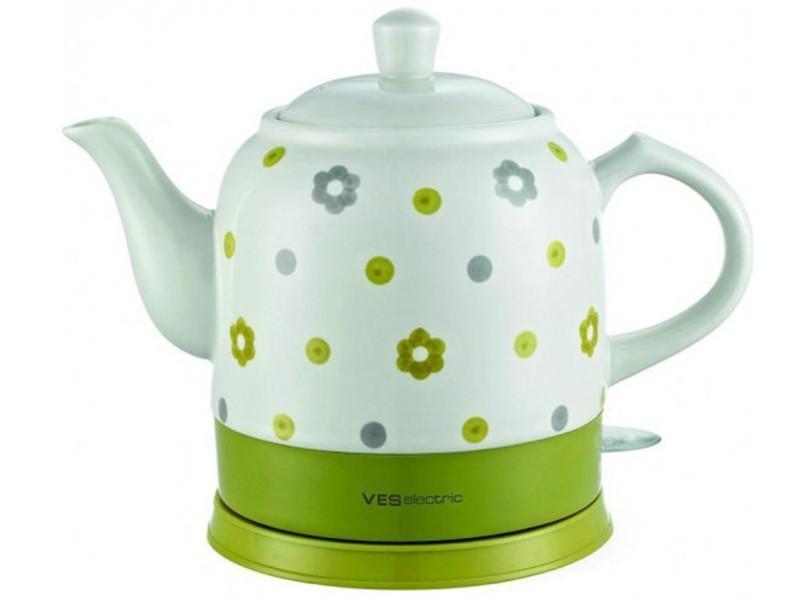 Чайник VES 1022 White-Green ves rg9 gp