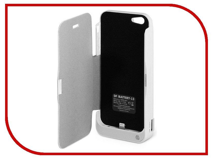 Аксессуар DF iBattery-13 для iPhone 5 4200 mAh White<br>
