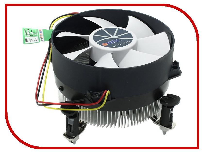 Кулер TITAN TTC-NA12TZ/R (Intel LGA1150/LGA1155/LGA1156) теплоотводящая подставка под ноутбук titan ttc g7tz laptop 12 15