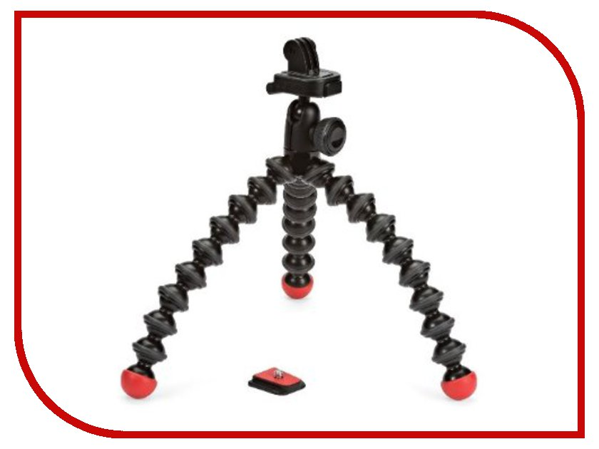 Аксессуар Штатив Joby GorillaPod Action Tripod with Mount для GoPro Black/Red JB01300-BWW