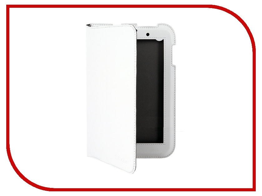Аксессуар Чехол Lenovo IdeaTab A3000 Scobe Leather Edition White<br>