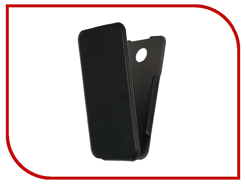 Аксессуар Чехол Lenovo A390 Scobe Leather Edition Black